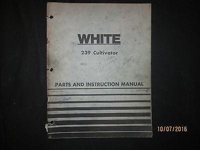 Cockshutt 239 Cultivator Operation Parts Instruction Manual Factory Original