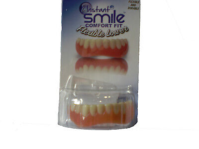 SECURE INSTANT SMILE False Fake Cosmetic Artificial Veneer Costume LOWER TEETH - Costume Fake Teeth