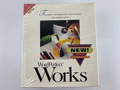 """Vintage 1992 Wordperfect Works for Macintosh, 3.5"""" Floppy Disk - Factory Sealed"""