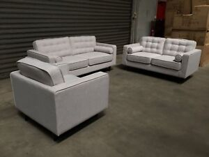 HARRY LARGE SET DEAL: TWO PLUS THREE SEATER SOFAS PLUS ARMCHAIR Granville Parramatta Area Preview