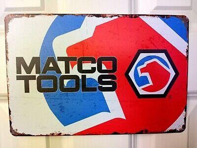 """Matco Tools"" Mechanic Tire Garage Rustic Man Cave  Decor TIN SIGN"