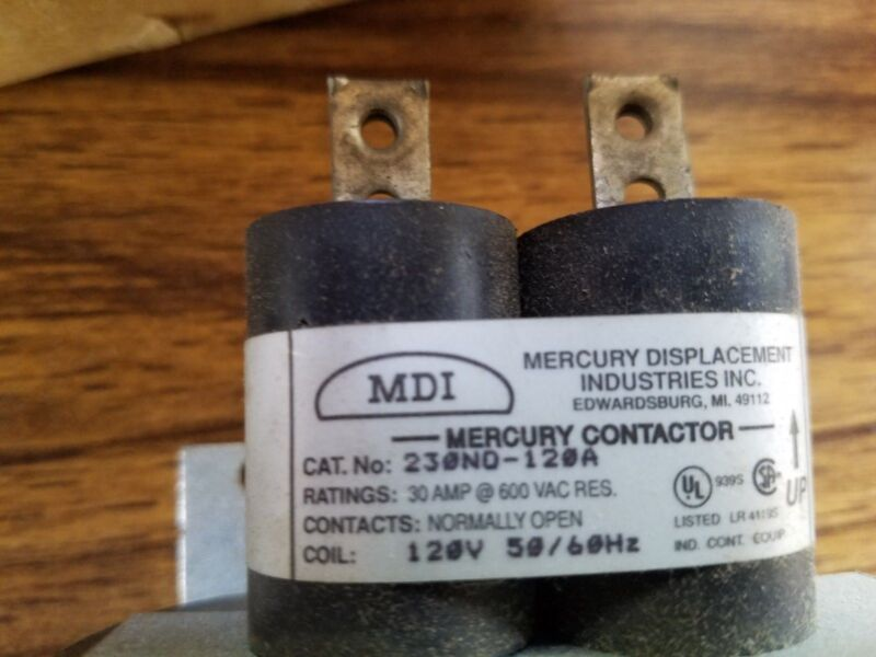 MDI 230NO-120A 2 Pole Mercury Relay Contactor - Used