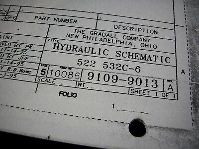 Gradall 522 532c-6 Material Handler Fork Lift Forklift Hydraulic Schematic