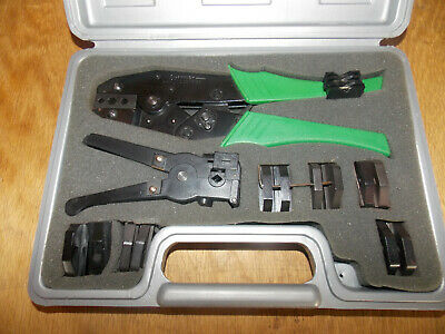 Shattuck Industries Crimping Tool Set Wwire Stripper Extra Die Sets 620
