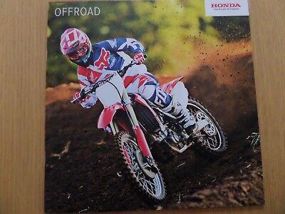 Honda Off Road Range (CRF) Motorcycle Sales Brochure 2018