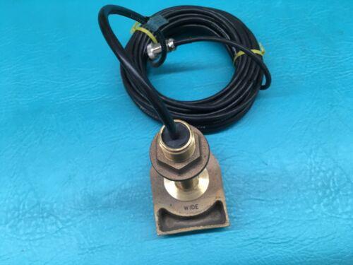 RADARSONICS Boat Transducer Thru Hull, Bronze, 200 KHZ, 18 degree, 301/200 3 pin