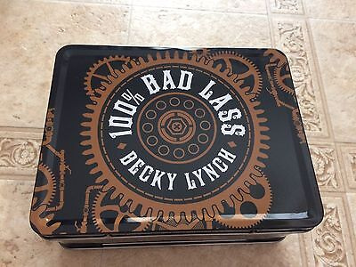 WWE Authentic BECKY LYNCH 100% Bad Lass Tin Metal Lunchbox Lunch Box NEW