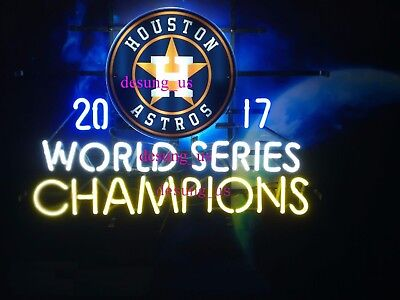 "Houston Astros World Series Champs Neon Light Sign 24""x20"" HD Vivid Printing"