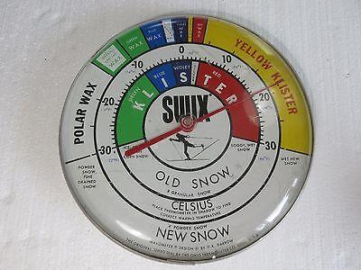 "Vintage 12"" Swix Wall Thermometer Snow Temperature Wax Nordic XC Skiing Ski Shop"