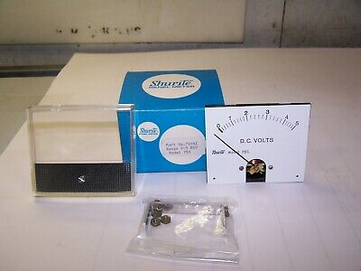 New Shurite Model 750 Analog Panel Meter 0 - 5 Volt Dc Part No 71042
