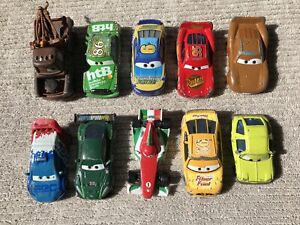 Ten cars from the movie Cars