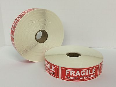 Fragile Warning Handle With Care Mailing Shipping Labels 1x3 300roll