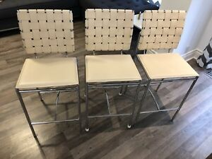 Set of 3 breakfast bar counter height stools