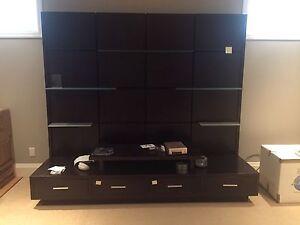 Wooden media cabinet (original price 2000$)