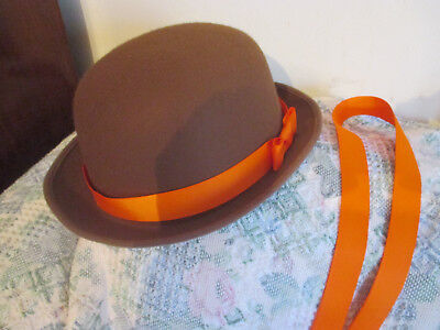 Malory Towers style hat & home made orange sash belt WORLD BOOK DAY costume etc