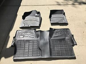 Custom moulded front and rear floor mats