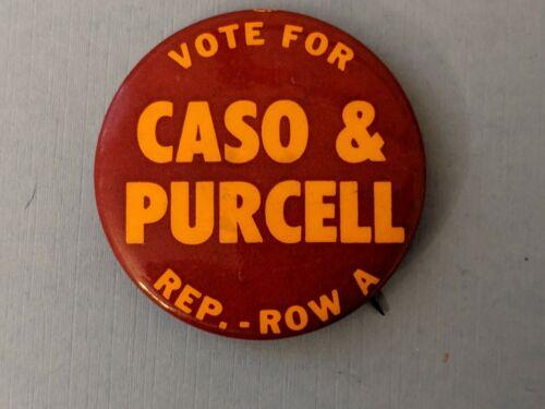 1974 Caso & Purcell  New York campaign political pin button pinback Rare!
