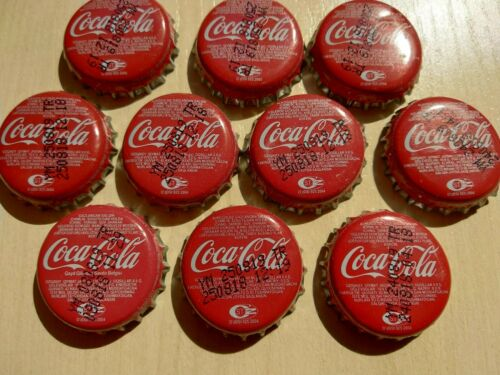 Lot of 10 metal Used Caps from Uzbekistan Coca Cola soda drinks 2019 #2