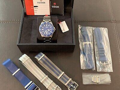 Tudor Pelagos Titanium Blue Dial/Bezel Mens 42mm Watch Box/Papers 25600TB Mens Solid Titanium Bracelets