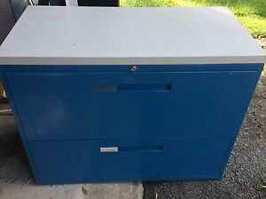 2 Drawer Metal Cabinet For Sale