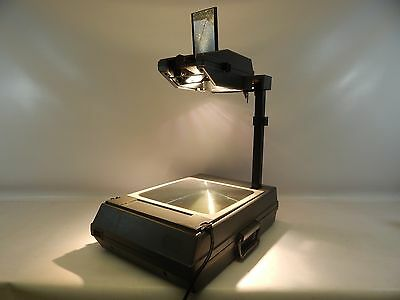 3m 2000 Ag Overhead Projector Briefcase Portable W Transparency Film Works