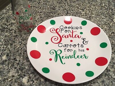Cookies For Santa plate And Milk For Santa Jug