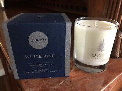 DANI Naturals White Pine Candle 60 Hr Burn Time 100% Soy 100 Hr Soy Candle