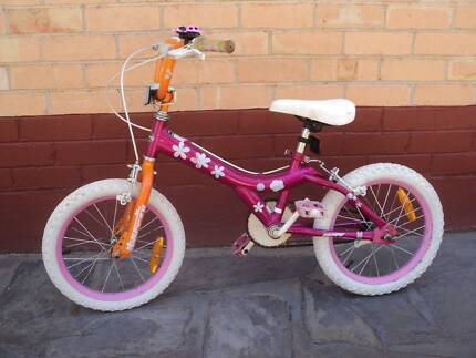 "HUFFY GIRLS 16"" BMX--PINK--GREAT FIRST BIKE AFTER TRAINING WHEELS"