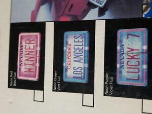 Neon License Plate Frame