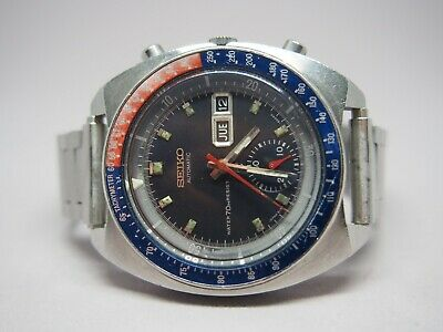 Vintage Men's Seiko 6139-6009 Automatic Chronograph with Notched Case - ca. 1970