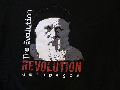 The Evolution Revolution Galapagos T Shirt Size L