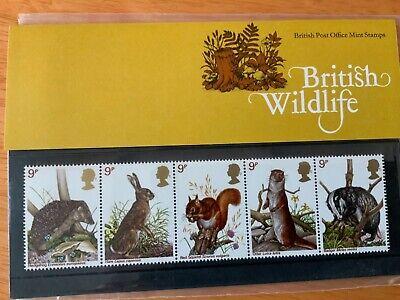 1977 Great Britain British Wildlife Presentation Pack 5 stamps MNH Scott 816-820