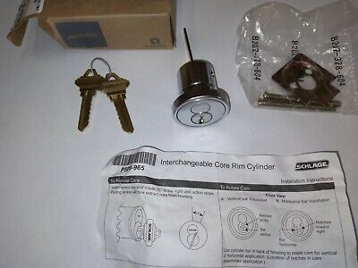 Schlage 20-057-6-626 Rim Cylinder Interchangeable Core - W Core