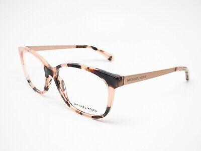 Michael Kors MK 4035 Ambrosine 3205 Pink Tortoise Eyeglasses 53mm (Michael Kors Rx Glasses)