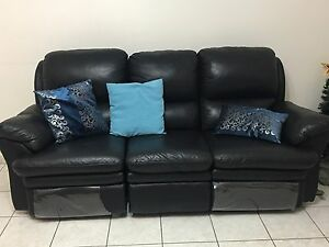 Black lounge sofa Fairfield West Fairfield Area Preview