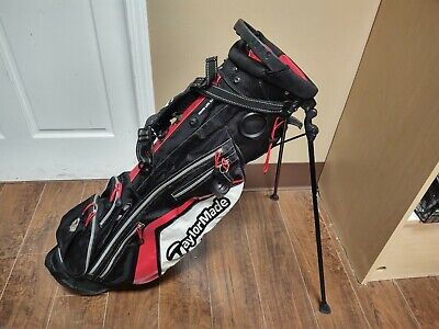 Taylormade Micro Lite 3.0 Dual Strap Stand Golf Bag Black/Red/White
