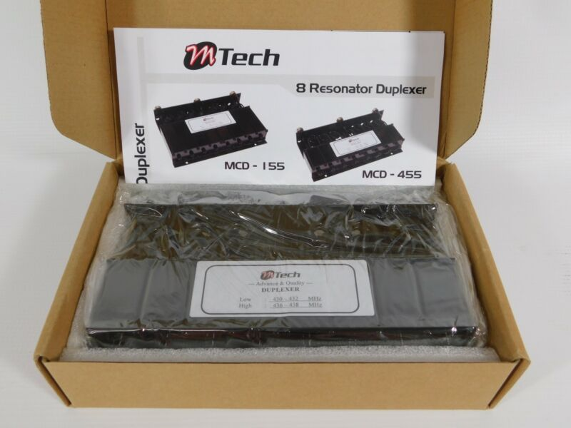 M-Tech MCD-455 UHF 430-438MHz Radio 8-Cavity Duplexer (new)