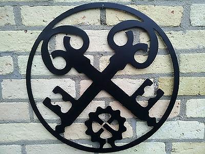 Innungsschild aus STAHL,Schlosser, Zunftzeichen Innungszeichen Handwerkszeichen,