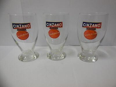 lot de trois verres publicitaires vintage - CINZANO