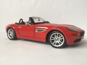 Diecast bmw Z8 1/18th scale red
