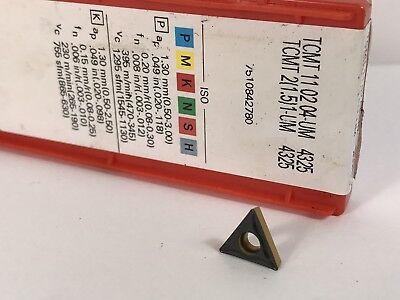 Sandvik Tcmt 21.51-um Tcmt110204-um New Carbide Inserts Grade 4325 1pc