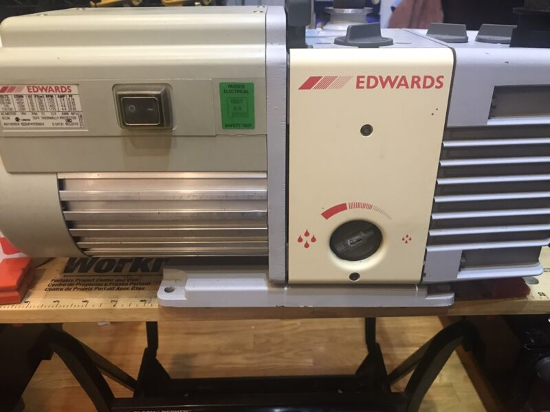 Edwards RV5 Dual Stage Rotary Vane Vacuum Pump 4.1 CFM TESTED With Oil