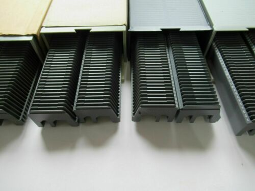 Slide projector slide cassette trays X 2 50 slides + storage box (Braun)