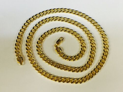 """14k Yellow Gold Miami Cuban Curb Link 22"""" 5.3mm 20 Grams Chain Necklace"""