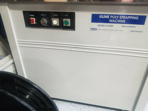 USED - ULINE H-959 Strapping Machine - working