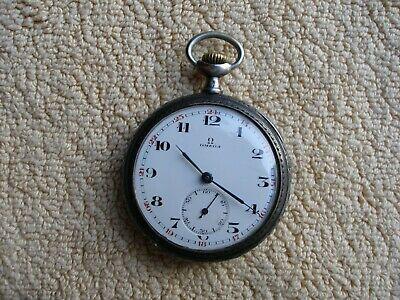 Antique. OMEGA Silver (900) Classic Pocket Watch. # 4804811 Grand Prix Paris1900