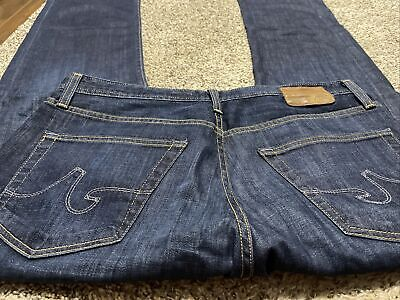 AG ADRIANO GOLDSCHMIED THE PROTEGE STRAIGHT LEG DESIGNER MEN'S JEANS SIZE 33X32
