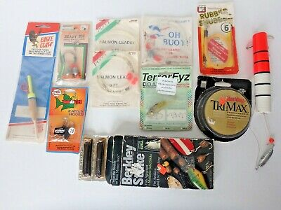 Vintage Lot of 11 Fishing Supplies.