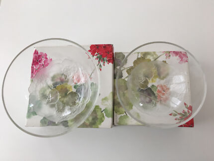 Mikasa - pair of glass bowls - new in box