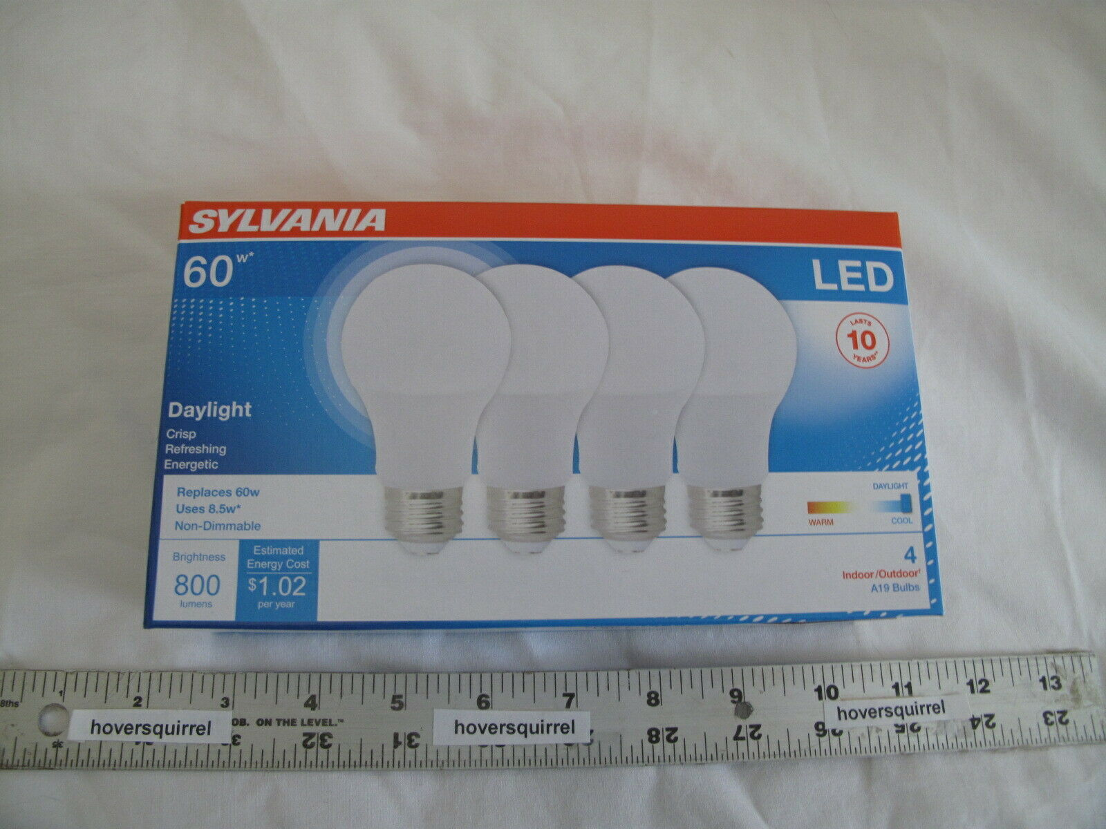 LED DAYLIGHT 60W 60-Watt SYLVANIA  A19 Regular Medium Base